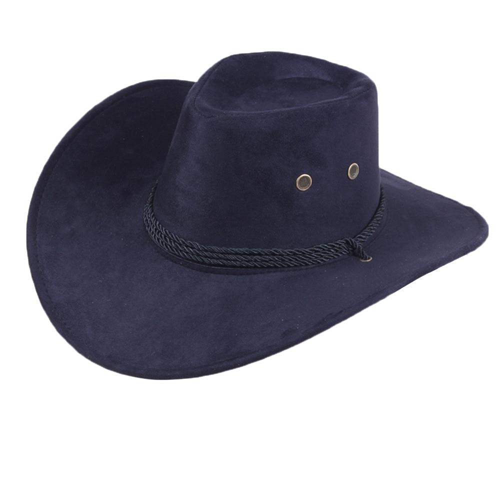 Retro Western Cowboy Cowgirl Hat Men Riding Cap Fashion Wide Brim Crushable Gift