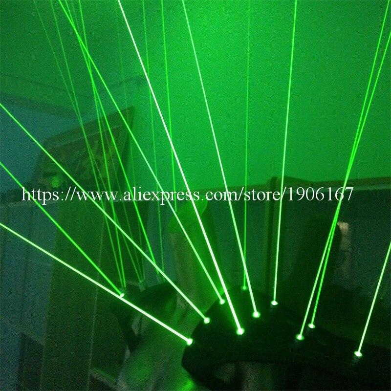 Zeleni laserski prsluk odjeća Laserman prsluk nošnja s 20pcs laseri - Za blagdane i zabave - Foto 6