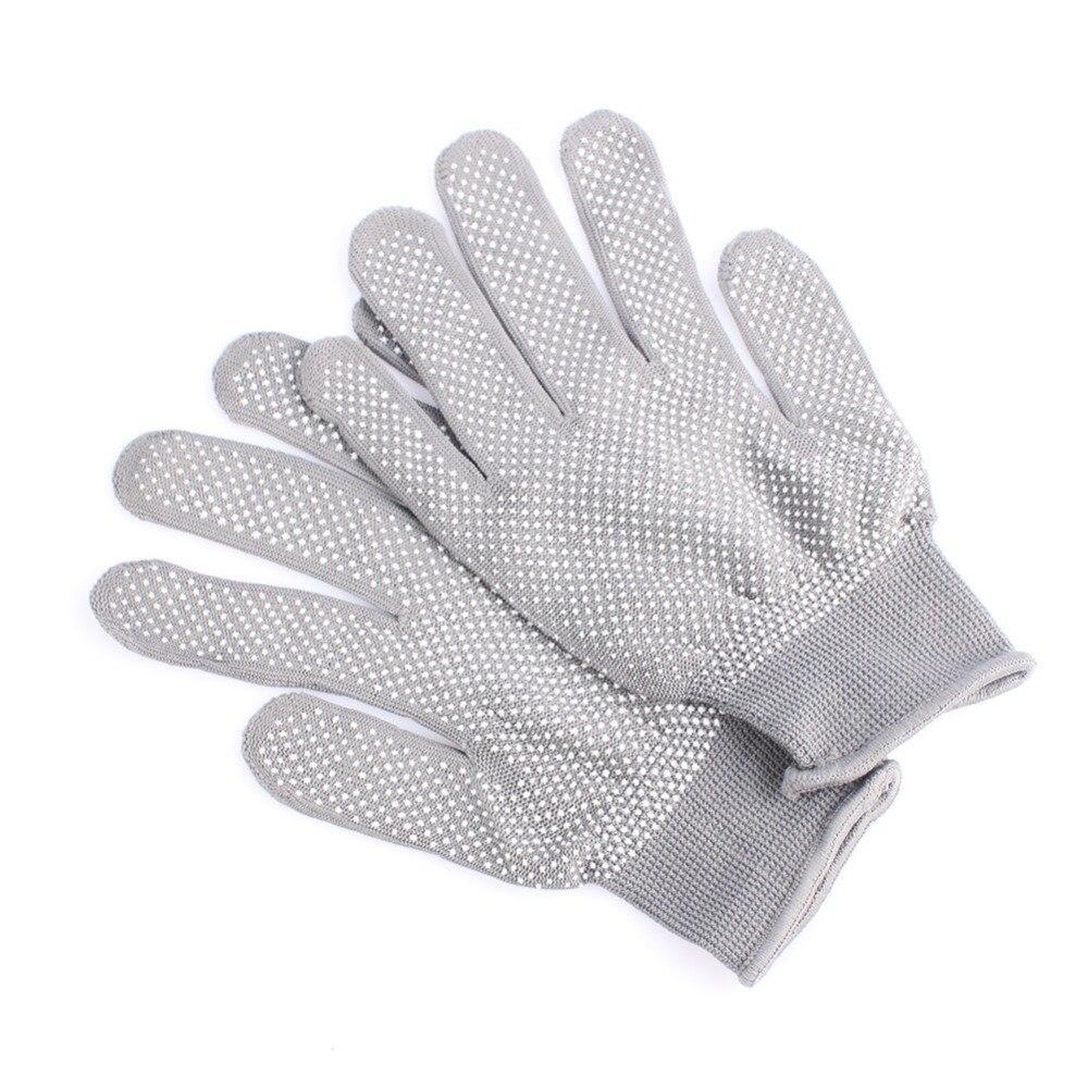 HOT Sale 1 Pair Hair Straightener Perm Curling Hairdressing Heat Resistant Finger Glove Black Grey Color #82683 5
