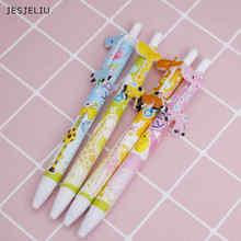 Фотография JESJELIU1 pcs Kawaii Cartoon Ballpoint Pen Cute Creative Stationery School Office Supplies Giraffe Ball Pen for Students Writing