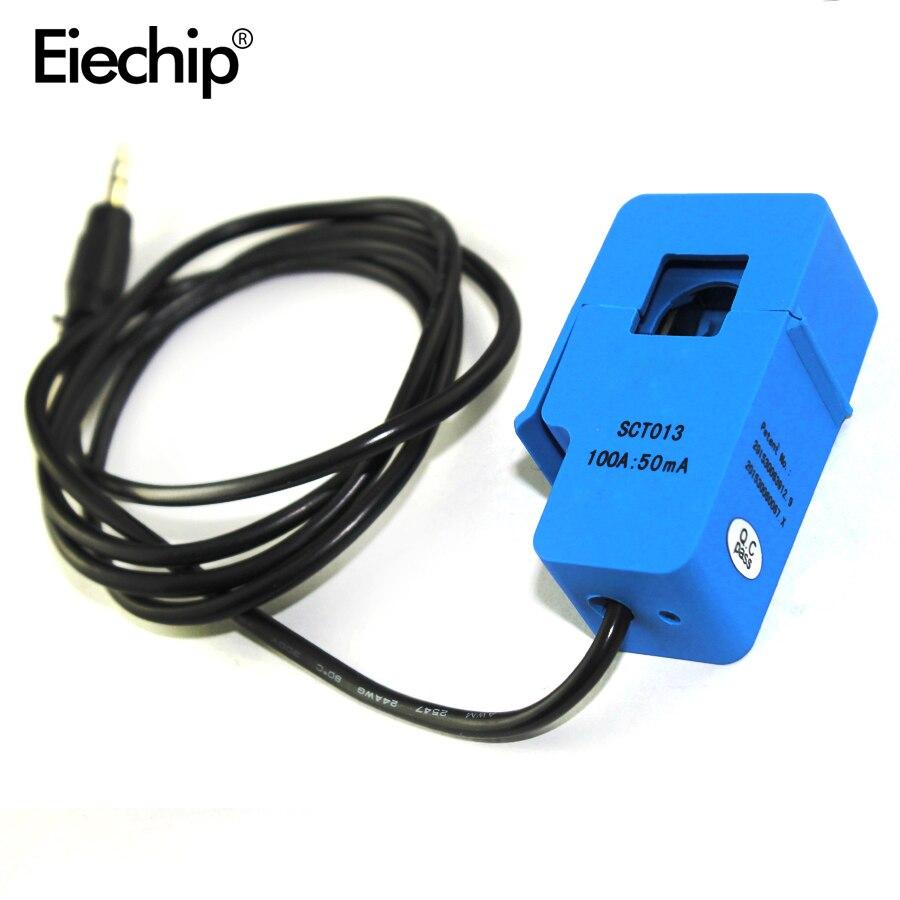 1pcs SCT-013-000 Não-invasivo 100A Dividir Núcleo do Transformador de Corrente AC sensor de corrente Para arduino Starter Kit Eletrônico DIY