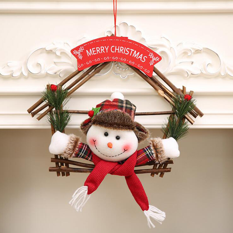 2017 Unique Merry Christmas Gifts 2pcs/lot Santa Claus Snowman ...