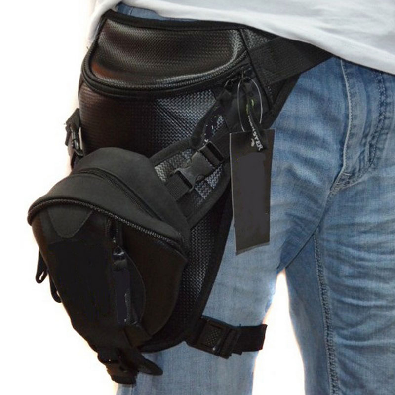 Microfiber Men OxfordDrop Leg Bag Thigh Hip Bum Belt Fanny Waist Pack Military Travel Trekking Running Hiking Motorcycle Assault