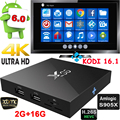 Lo nuevo X96 S905X Amlogic Quad Core Android 6.0 TV BOX 1G/8G 2G/16G KODI16.1 Smart TV Box Completo Cargado 4 K WiFi 1080 P Media jugador