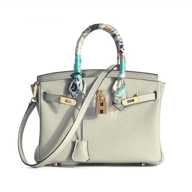 cb367814ab6 Geniune Leather Luxury Brand Celebrity Handbag Women Messenger Bags Bolsa  Feminina Vintage Elegant Sac A Main Femme De Marque