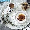 JINSERTA деревянный поднос для хранения Ретро фруктовый торт десерт чай под кофе  тарелки белый дисплей для ювелирных изделий поднос Домашний Н...