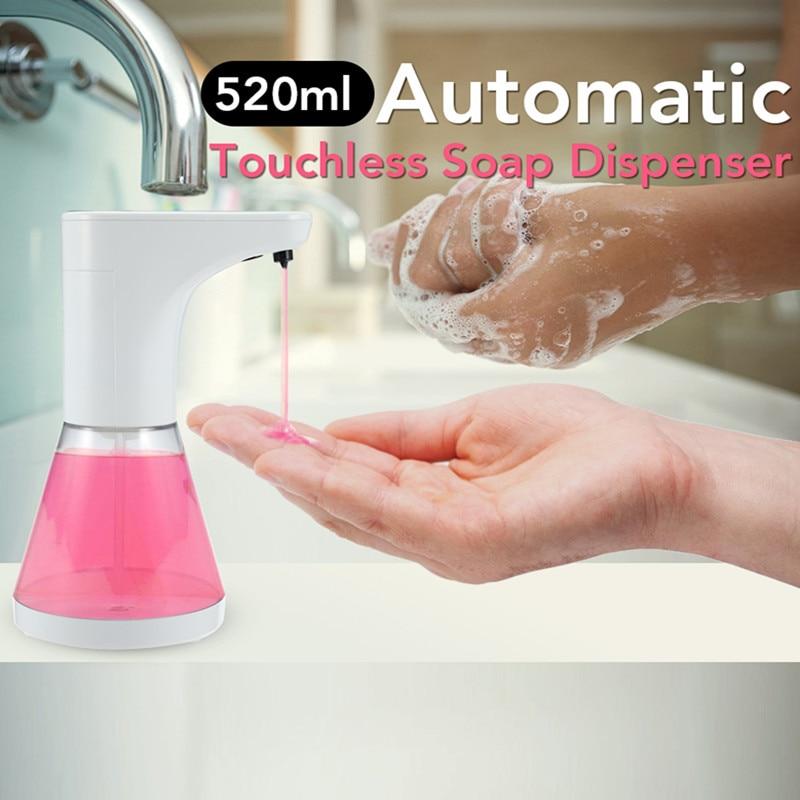520ml Automatic Touchless Soap Dispenser Motion Activate Smart Sensor Sanitizer Dispenser Pump For Kitchen Bathroom Shower 520ml automatic touchless soap dispenser motion activate smart sensor sanitizer dispenser pump for kitchen bathroom shower