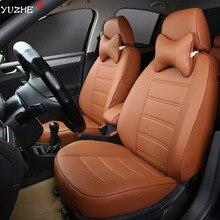 Yuzhe Deri araba koltuğu kapağı Toyota RAV4 PRADO Highlander COROLLA Camry Prius Reiz TAÇ yaris aksesuarları şekillendirme yastık