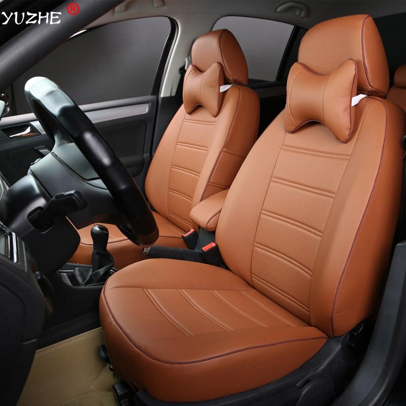 Yuzhe Leather car seat cover For Toyota RAV4 PRADO Highlander COROLLA Camry Prius Reiz CROWN yaris accessories styling cushion
