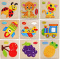 Kids Animals Puzzle Wooden Educational Toys Games For Children Gifts Cute puzzles toy Random styles