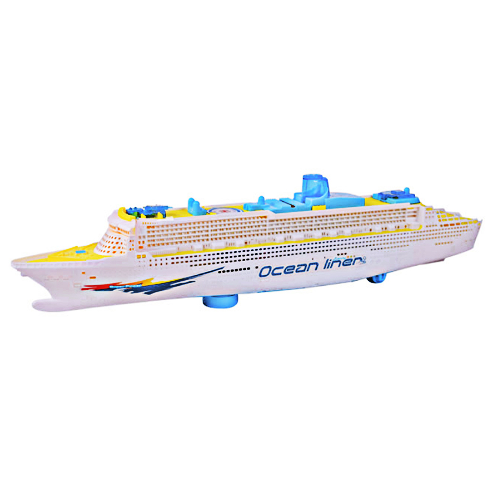 Universal Light Music Ocean Liner Ship Model Flashing Sound Electric Cruises for Children Kids Boat Toys Gift Automatic Steering ...