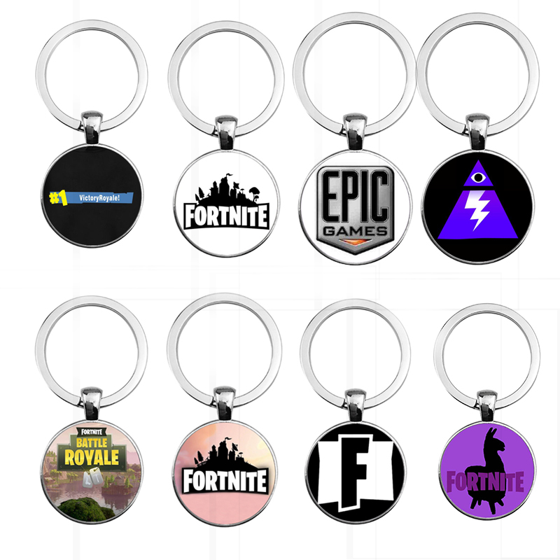 2018 new Fortnite Keychain Game Velvet Neck Chain Battle Royale Keychain Necklace Metal Keyring God of War 4 pubg Keychain