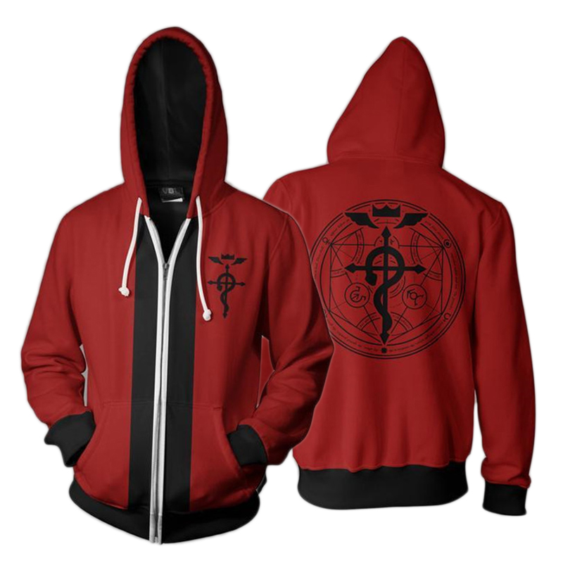 Fullmetal Alchemist Alphonse Elric hoodie available in 3 colours