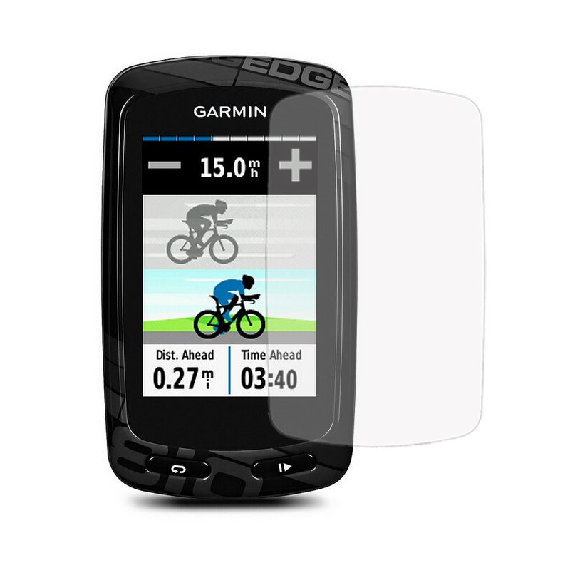 Outdoor Cycling computer Silicone Rubber Protect Case + LCD Screen Film Protector For Garmin Edge 200/500/800/810/520/1000