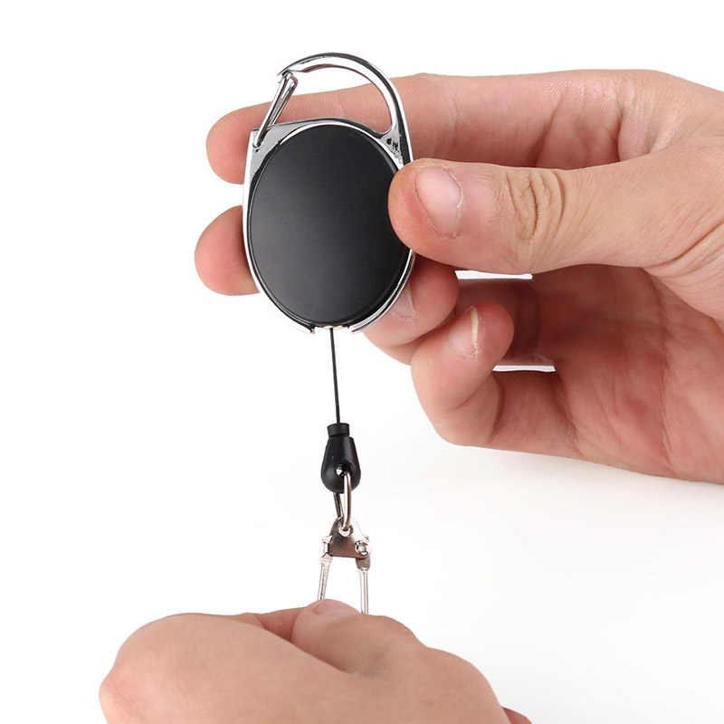 NOVO Chaveiro Retrátil Anti-roubo Anti-perdido de Segurança Elástica Presente Mini Chave Titular bolsa de Transporte