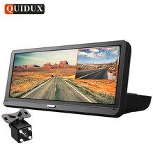 QUIDUX 8,0 «Видеорегистраторы для автомобилей gps навигации FHD 1080 P Android автомобиля видеокамера ADAS Ночное видение Wi-Fi удаленного мониторинга Dashcam