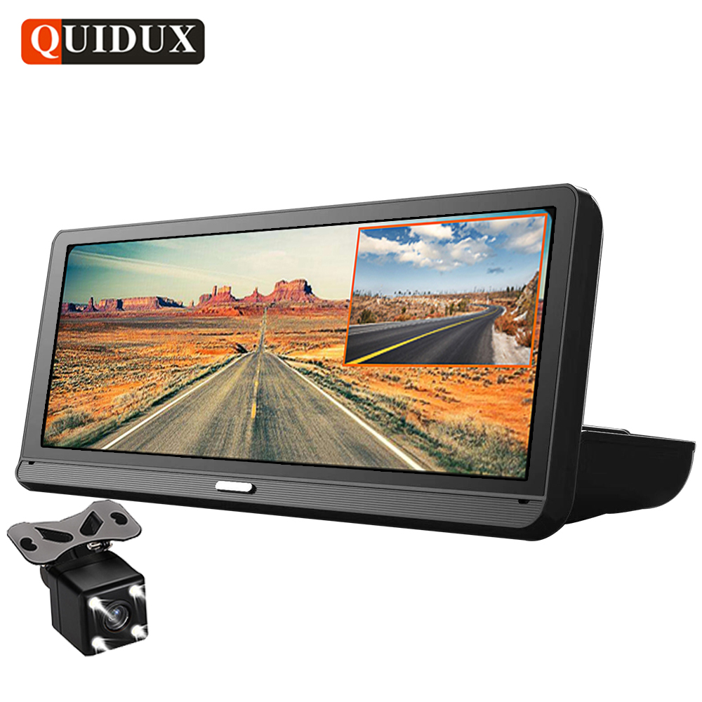 QUIDUX 8.0 Car DVR GPS Navigation FHD 1080P Android car video camera recorder ADAS Night Vision WiFi Remote monitoring Dashcam