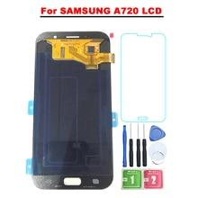 5,7 »Super AMOLED ЖК-дисплей для samsung Galaxy A7 2017 A720 A720F SM-A720F ЖК-дисплей Дисплей Сенсорный экран планшета Ассамблеи Бесплатная доставка