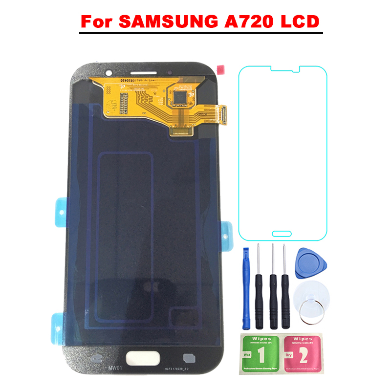 5.7 ''Super AMOLED LCD Pour Samsung Galaxy A7 2017 A720 A720F SM-A720F LCD Affichage à L'écran Tactile Digitizer Assemblée livraison gratuite