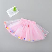 Юбка-пачка для малышей, мини-платье для маленьких девочек с шариками, юбка-пачка для девочек, юбка принцессы для вечеринки, балета, танцевальная юбка для новорожденных девочек