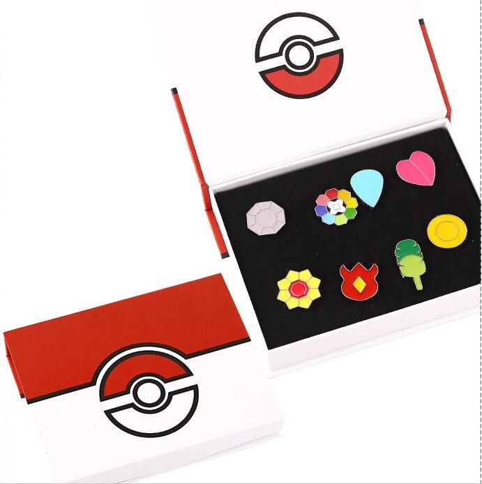 Pokemoned Gym Badges Kanto Johto Hoenn Sinnoh Unova Kalos League Region Pins New in Box Set