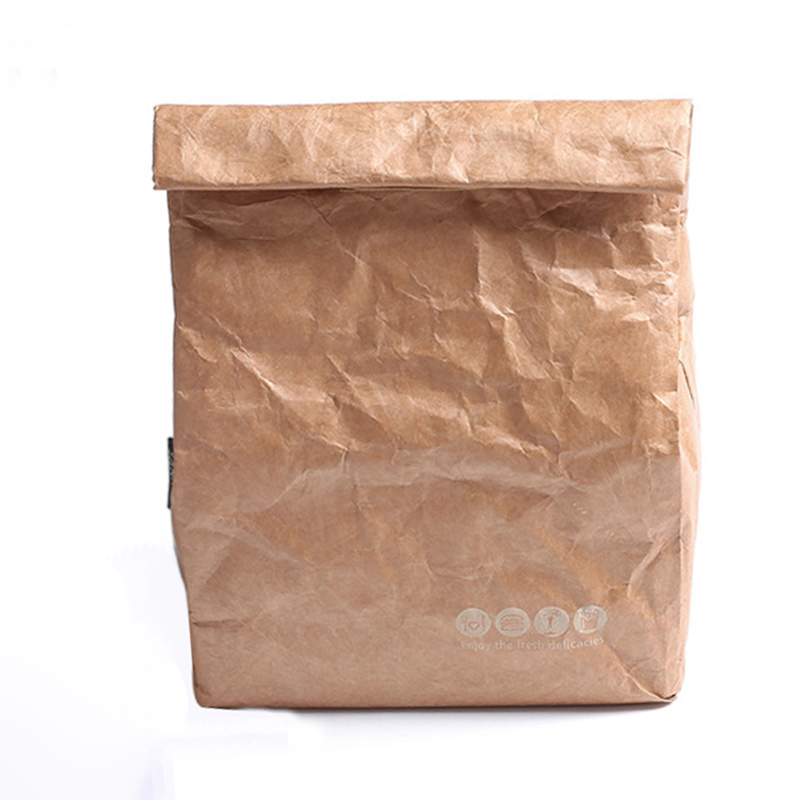 Us 5 13 30 Off Foldable Lunch Bags Waterproof Kraft Paper Picnic Insulated Food Thermal Aluminum Storage Pouch In From Home