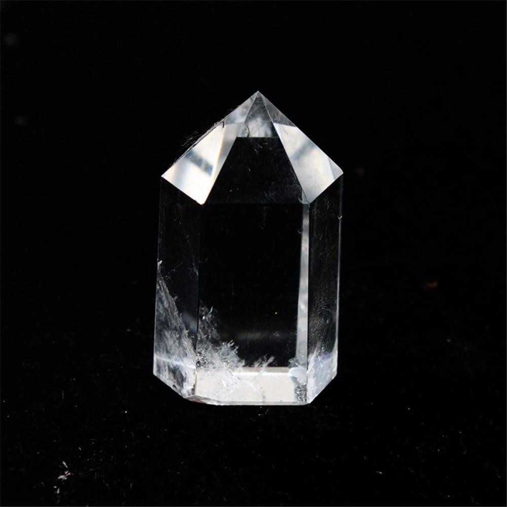 12pcs/lot Irregular Handwork Small Natural Clear Quartz Point Healing Hexagonal Column 7Chakra Treat White Crystal Free Shipping