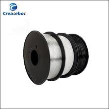 PETG 3D Printer Filament 1.75mm 3mm 1kg spool Plastic Material Transparent ,Black,White color for option