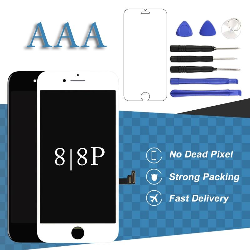 Para o iphone 8 8 Mais Display LCD Com 3D Assembléia Digitador Touch Para o iphone 8 + 8 P LCD Sensível Ao Toque celular com tela de Substituição de peças de Reposição