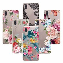 Floral Phone Cases For Huawei Y5 2017 Mate 10 lite 20 Pro Nova 2i Honor 10 6A 5C 7A 7C Y6 Y7 Prime 2018 Sexy Lace Flower Case leather case for huawei y5 y6 y7 prime 2018 flower phone cases cover for huawei honor 7a ru version pro nova 2 lite