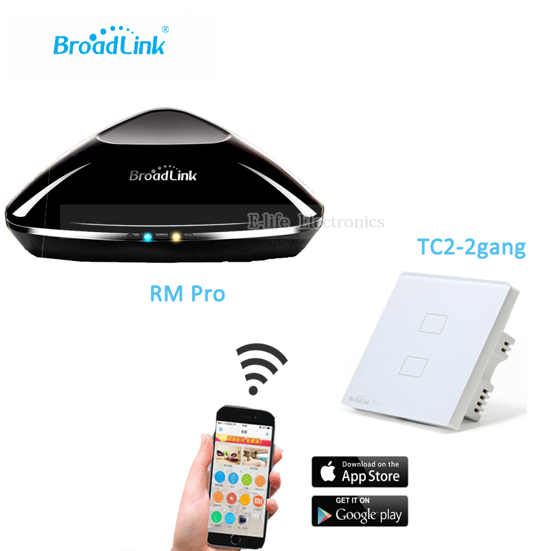 Broadlink RM PRO Universal Intelligent Remote Controller WIFI+ IR+ RF+TC2 2 Gang
