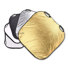 Meking Photography Photo Reflector 80*80cm/32″ 5in1 Light Square Mulit Collapsible Portable Reflector