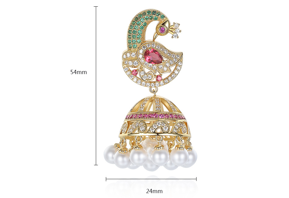 Wholesale 2019 New Phoenix and fly creative European and American crystals from Swarovski retro earrings ladies long sectionWholesale 2019 New Phoenix and fly creative European and American crystals from Swarovski retro earrings ladies long section