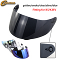 1 шт. K5 K3SV K1 смотровой щиток мотоциклетного шлема Аксессуары для мотоциклов и Запчасти для K3 K4 Casco Женский шлем, защищающий от УФ излучения объектив - фото