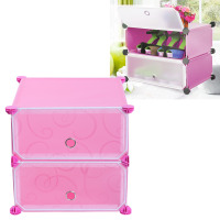 Storage Shoe Rack Cabinet Organizer Holder 2 Layers Select Storage Shelf DIY Combination Home Furniture