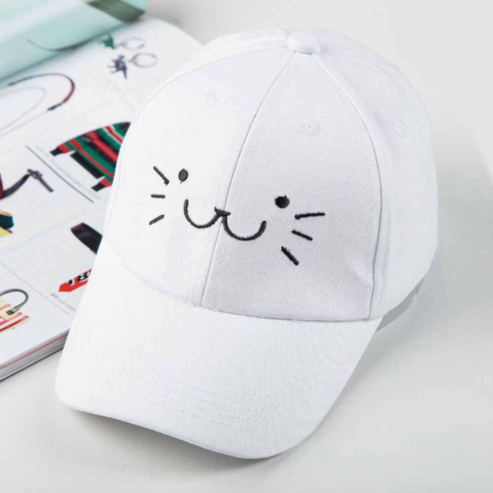 Baby Kids Baseball Cap Boys Girls Summer Cartoon Smile Face Sunshade Hat Fashion