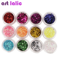 12 Bottle High Quality Nail Glitter Set Multicolor Nail Powder Dust Women Nail Tip Decoration Materials Manicure Material