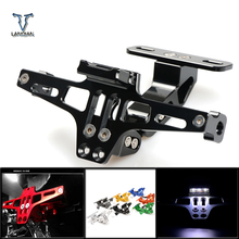CNC Motorcycle Adjustable Angle License Number Plate Frame Holder Bracket For Yamaha xmax 300 XMAX300 V-MAX 1200 /VMAX