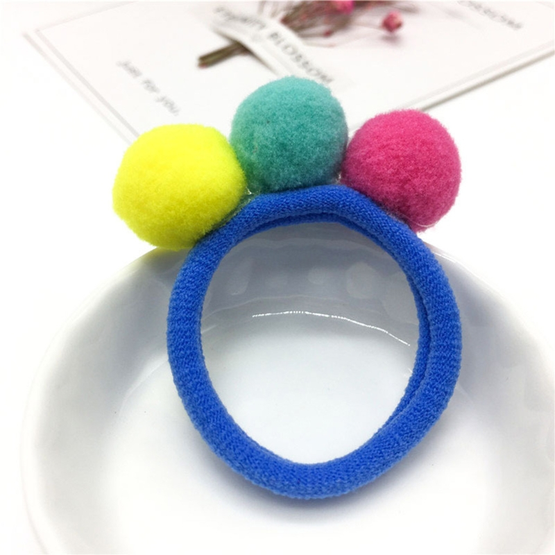 Kids Girls Hair Band With Fur Balls Candy Color Rope Cute Elastic Hair  Accessory-in Hair Accessories from Mother   Kids on Aliexpress.com  d3963b4b112