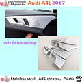 High quality car body cover stick trim ABS chrome door inner built handle bowl frame panel lamp hoods 4pcs for VW Aud1 A4L 2017