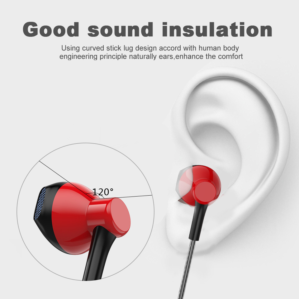 SIMVICT Red Black White Earphones Wholesale Headsets Earbud with Mic Gaming Headset for Phones Samsung Xiaomi Iphone for MP3 MP4