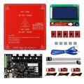 Mks gen v1.4 reprap ramps1.4 + 12864 inteligente display lcd + cama aquecida + 5 pcs a4988 stepper motor driver + 3 pcs interruptor de fim de curso mecânico