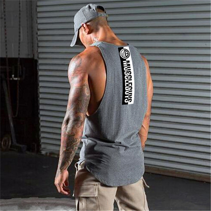 Fitness Tank Top Men Bodybuilding Brand Clothing Men Sleeveless Shirt Crossfit Vests Cotton Gyms Singlets Muscle Tops