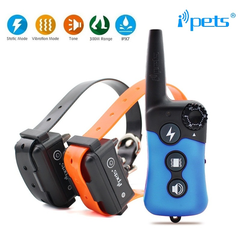 Remote Electric Dog Training Collar Waterproof Rechargeable Vibration Static Shock Tone Training for All Dogs