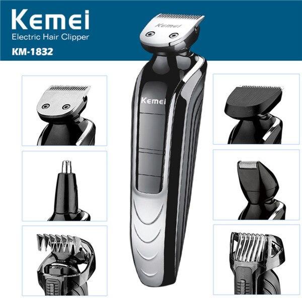 Électrique multifonction 5 en 1 coupe-cheveux, barbe et tondeuse de nez, rasoir Facial pour hommes imperméable famille coupe de cheveux outil
