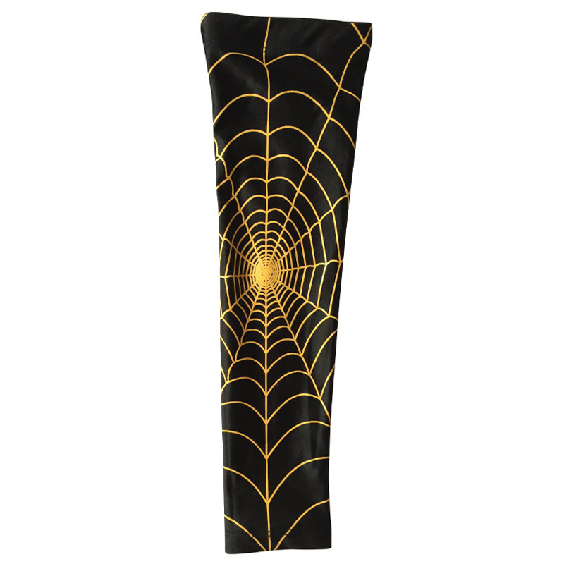 Spider Web basketball slip-resistant lengthen arm guards sunscreen sports protective sleeve forearm elbow pad
