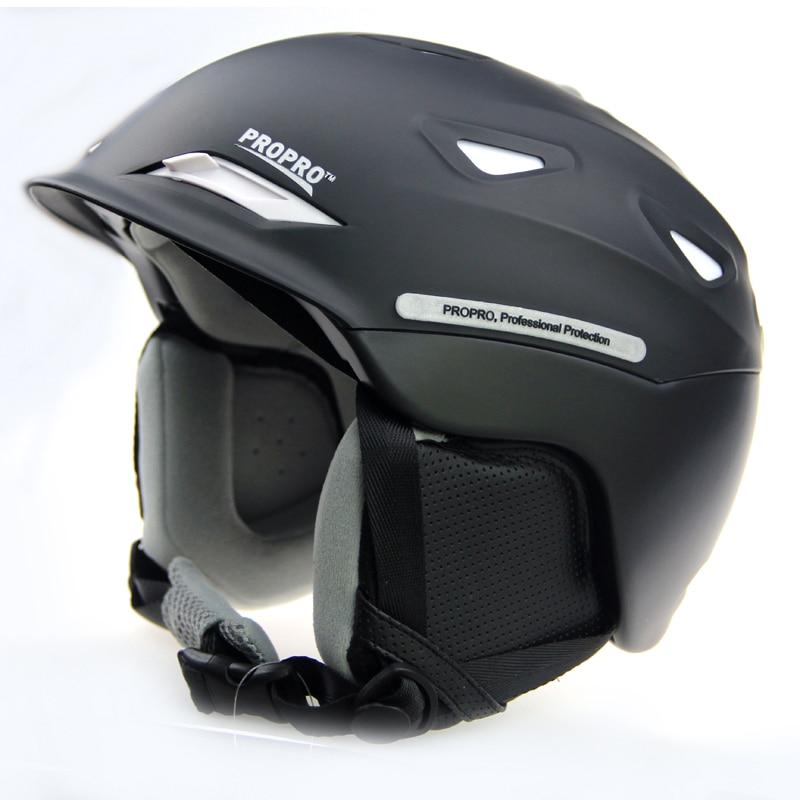 PROPRO nuevo de una sola pieza de gama alta casco de esquí casco cálido sombrero nieve esquí chapa esencial placa doble