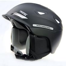 PROPRO neue einteiliges high-end ski helm helm warme mütze schnee skifahren ätherisches furnierdoppelplatte