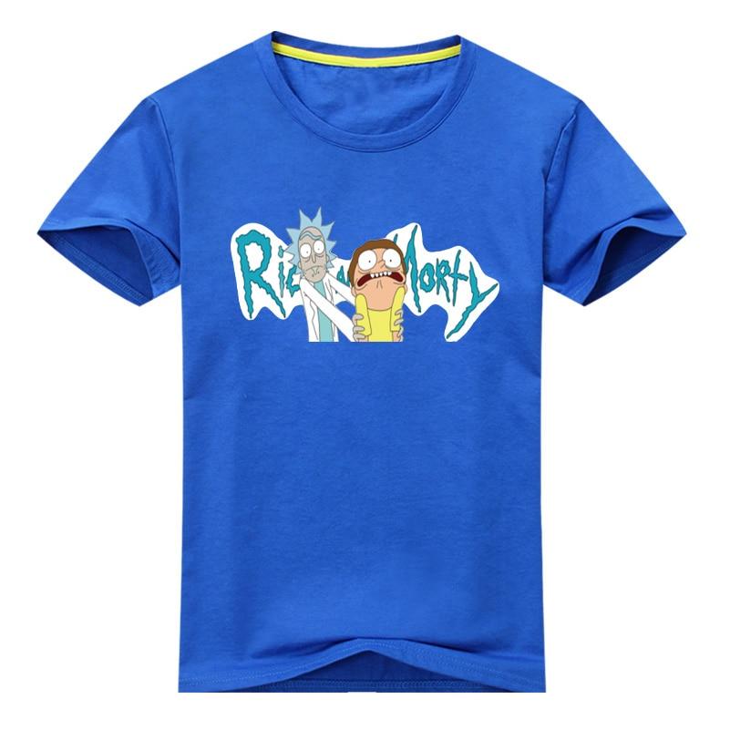 Rick and Morty t shirts Boy Girls Cartoon Pattern T-shirt Children Summer Short Sleeves 100% Cotton Tee Tops Cloth Kids Tshirts