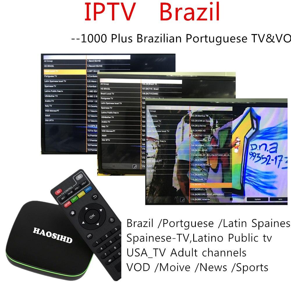 US $44 35 5% OFF|iptv brasil Br1 tvbox android 7 1 free Brazilian  Portuguese adult iptv Streaming Box iptv brazil PK BTV b9 htv-in Set-top  Boxes from